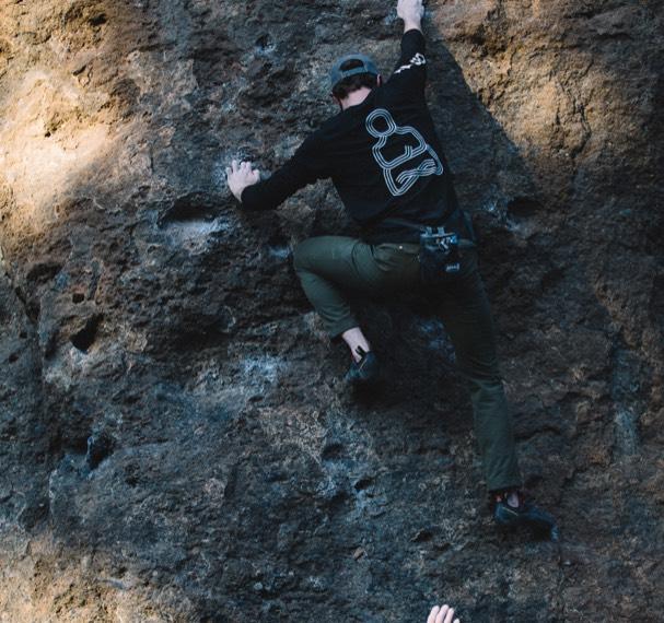 Rockclimber on a rock face