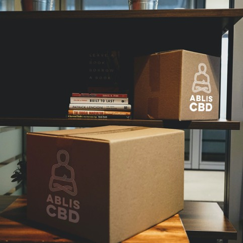 Boxes of Ablis CBD drinks